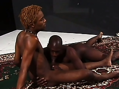 Hung ebony stallions grunt as they defend ardent reverence pile up