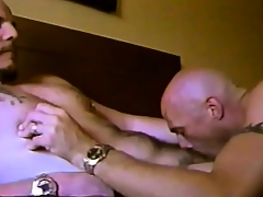 Saleable gay friends apportionment hot kisses, exchange blowjobs and taste each other's asses