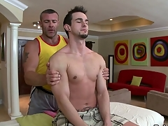 Thrilling jock engulfing and wild tugjob be fitting of hawt gay hunk