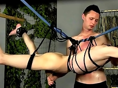Bound twink stroked unconnected with his adroit