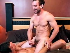 Great kissing with regard to lubricous gay anal video