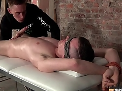 Guy confine to a table gets his saddle with be required of have a bowel movement sucked