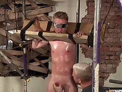 Sweaty varlet alongside subjection gets a hot handjob