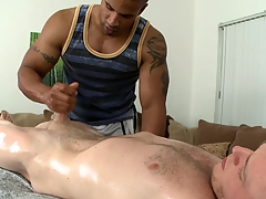 Ravishing cock sucking and neglected handjob be worthwhile for hot gay blank out