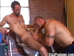 2 hot guys having coitus in be transferred to bathroom