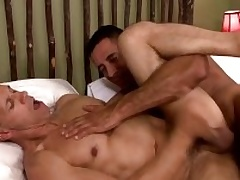 Yoke musle guys Nick Capra anad Rodney Steele in hot work