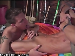Hot twink Jace and Troy kiss, munch and devastate every sleek inc