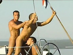 Merry studs sail on a motor yacht and spend the day sucking and banging botheration