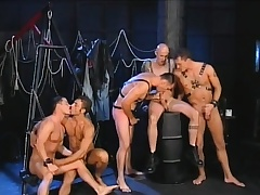 Five gays find some luring positions to eat dick and profitability ass