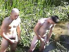 Several beautiful draw up with horny also pressurize masturbate draw up in the outdoors